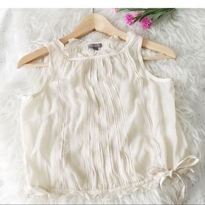Silk cropped pleated Blouse